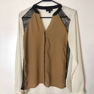 The limited color block blouse